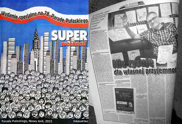 karykaturzysta polski Nowy Jork USA