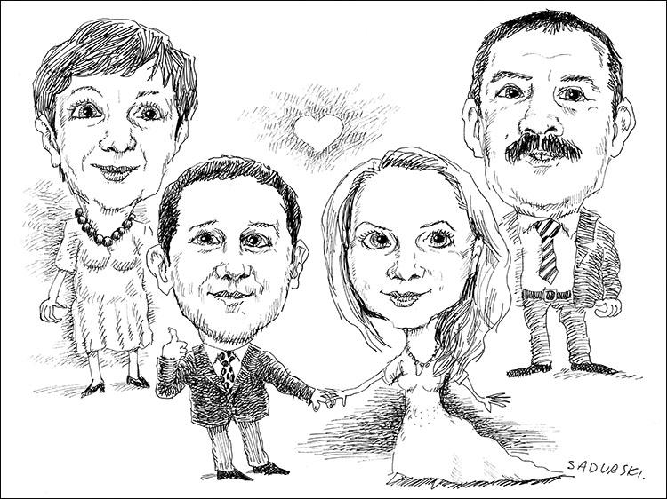 karykatura ślubna karykatura na prezent ślubny