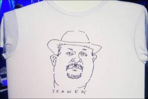 karykatury na koszulkach, karykaturzysta