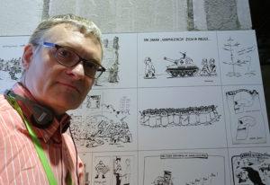 Karykaturzysta Szczepan Sadurski - Europejskie Centrum Solidarności Gdańsk