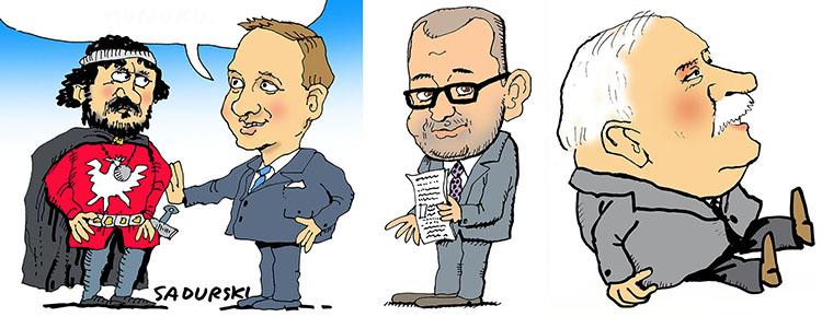 karykatura komiksowa karykaturzysta karykatury Sadurski