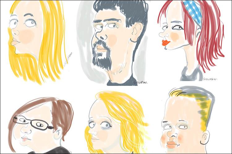 karykatury cyfrowe karykatury na tablecie na żywo