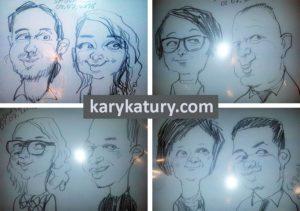 karykatury na żywo karykaturzysta na event wesele