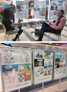 karykatury centrum handlowe event karykaturzysta walentynki