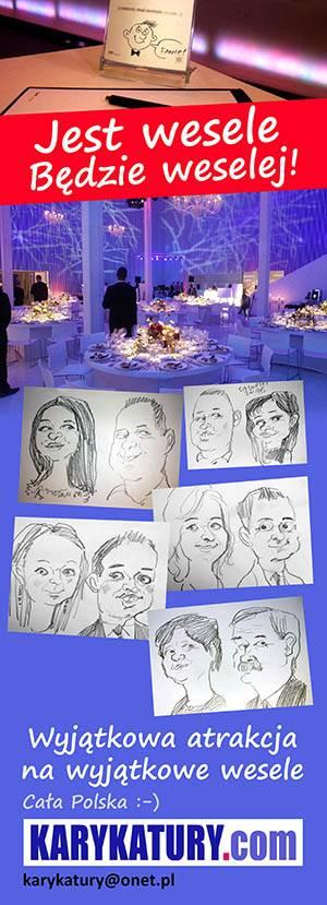 karykaturzysta na wesele karykatury event