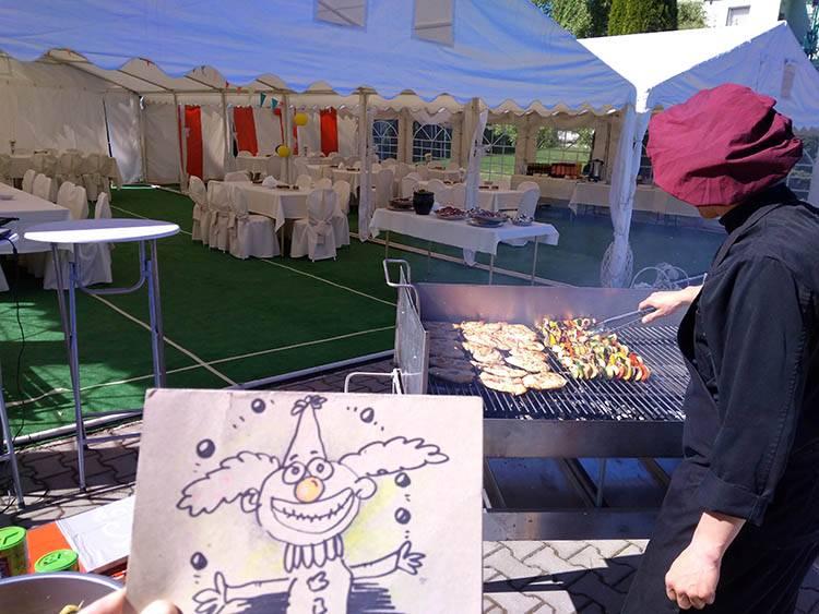 Łódź karykaturzysta karykatury piknik