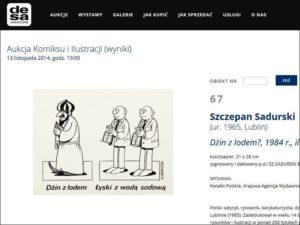 desa unicum karykatury sztuka aukcje