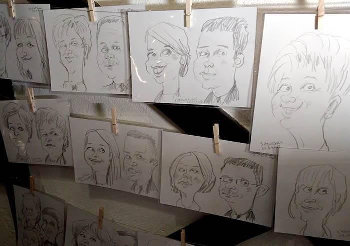 karykaturzysta wesele karykatury