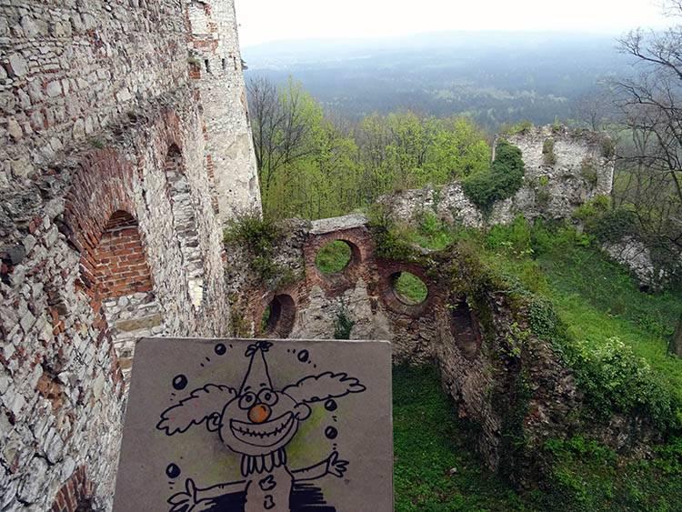 karykaturzysta Rudnik zamek Tenczynek karykatury Małopolska