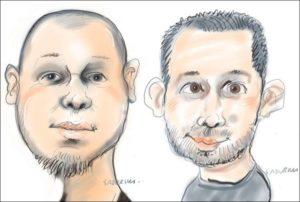 karykatury na tablecie na żywo karykaturzysta karykatura cyfrowa