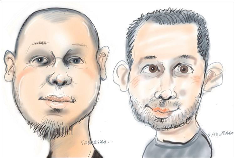karykatury na tablecie na żywo