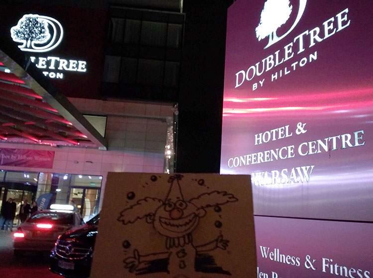 Hilton Double Tree Wawa karykaturzysta karykatury