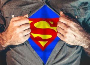 Superman pomysł karykatury rysownik karykaturzysta