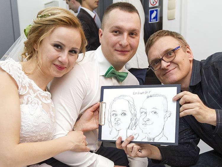 karykaturzysta na wesele karykatury