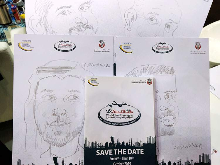 karykaturzysta Gdańsk Amberexpo kongres targi atrakcje karykatury