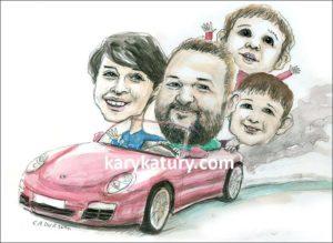 prezent dla kierowcy karykatura