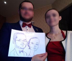 karykatury wesele przykłady karykaturzysta na wesele atrakcje weselne