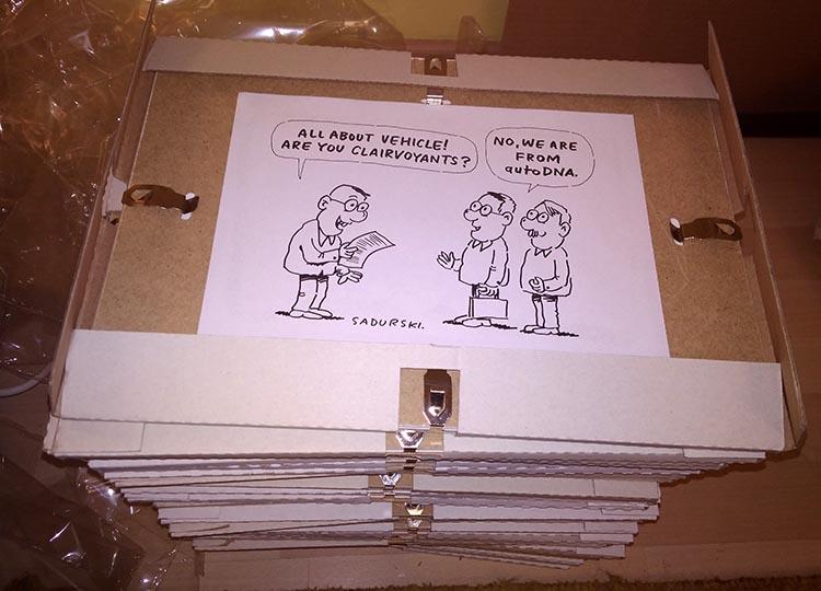 prezent dedykowany karykatura karykaturzysta