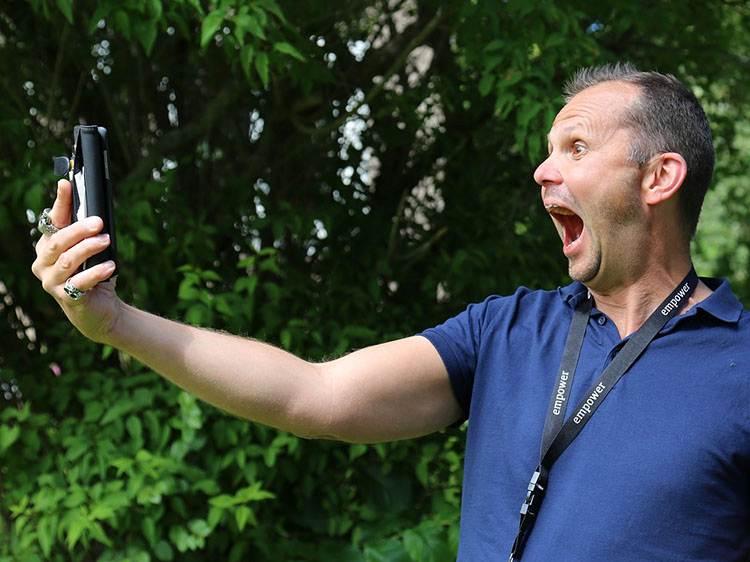 selfie zdjęcie do karykatury karykatura ze zdjęcia